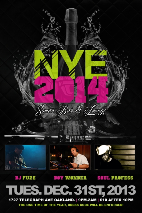 New Year 2014 4x6 flyer