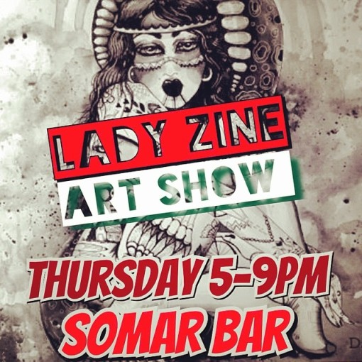Lady Zine Art Show_6-12-14
