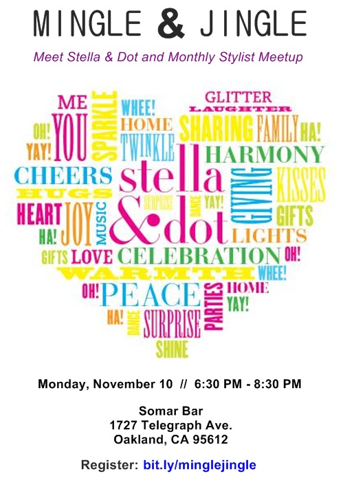 Stella Dot stylist meetup flier 11_10_14