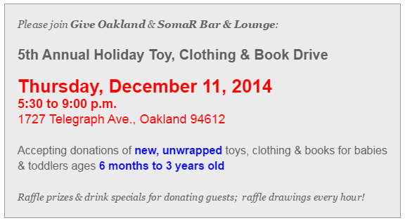 Give Oakland Toy Drive image_12-11-14