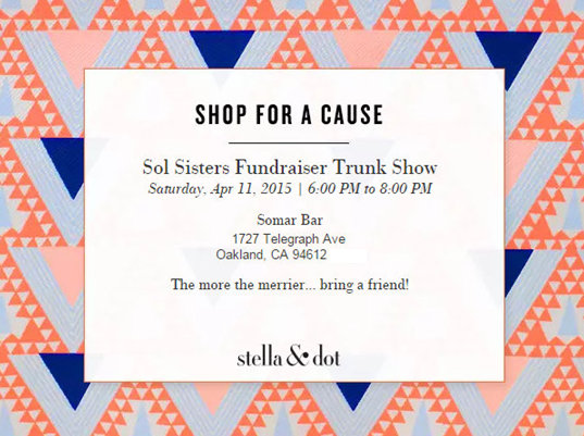 Sol Sisters Fundrasier Trunk Show_4-11-15