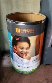 Alameda Food Bank barrel