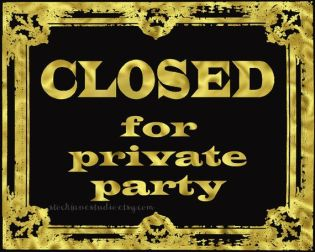 closed private party