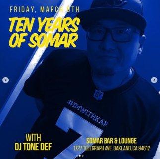Finally Friday Tone Def 10 Years Somar_3-8-19