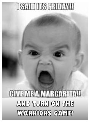 baby - margarita - warriors game