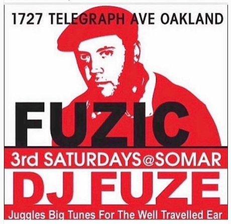 DJ Fuze every 3rd Saturady_4-2019