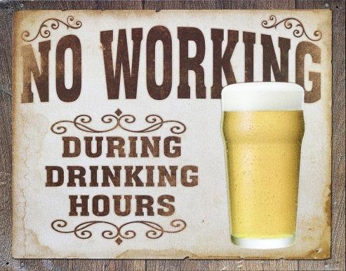 no work drinking hours