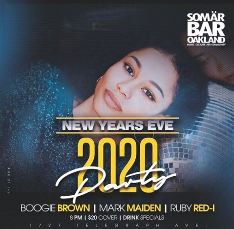 New Years 2020 flyer